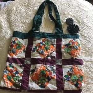 ❤️ Antique Hand Quilted Tote Bag